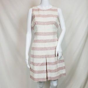 NWT J. Crew Stripe Basket Weave Dress 8P